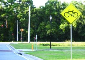 Bike path on Abercorn