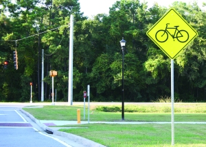 Bike path on Abercorn