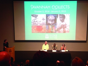 Collectors answer questions during Savannah Collects lecture.
