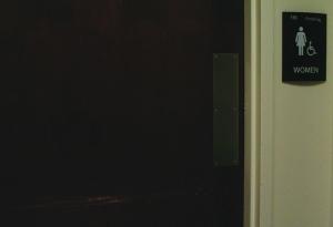Women's bathroom in Gamble Hall