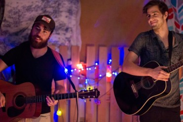 Any Otherwise members Justin Therrell and Kevin Gornichec perform at The Bomb Shelter.