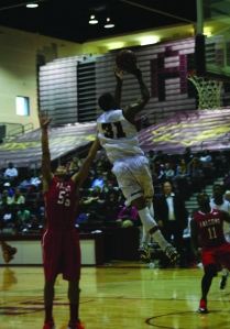 #31 going for a layup