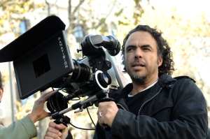 Alejandro Gonzalez Inarritu films on the set of 'Birdman'