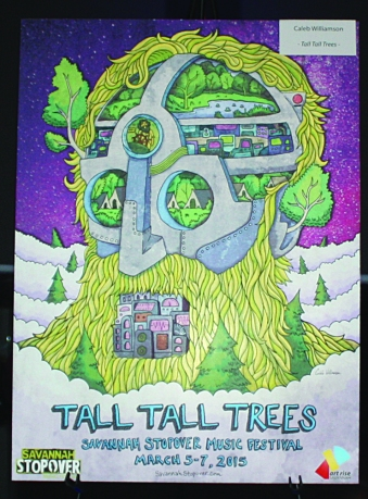 Caleb Williamson wins First Place in Stopover Poster Contest for Tall Tall Trees