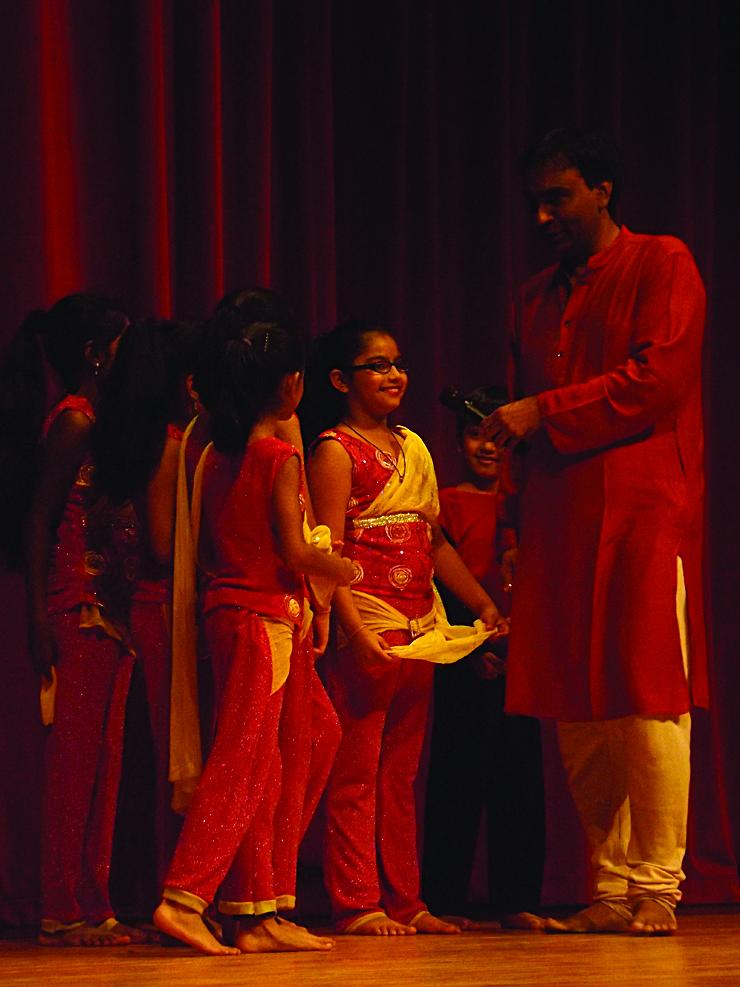 Children dancers being interviewed