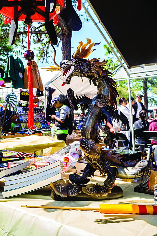 dragon on stand
