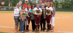 Softball Picture (from l to r- Ollivia McLemore, Rachel Reynolds, Alexis Mercer, all with parents.-  (Armstrong Comm.)
