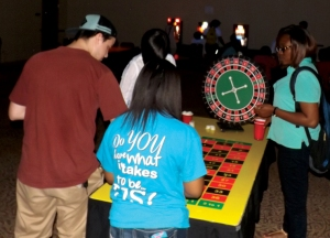 students at the roulette table ruby casino