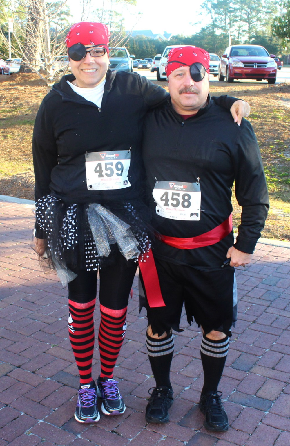 web pair of pirates before the Pirate Road Race Saturday February 13, 2016