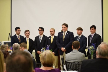 Members of the executive board for the Phi Alpha chapter of Sigma Alpha Epsilon at Armstrong State University