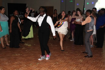 web students on the dancefloor at the GSA Prom Wednesday April 6, 2016