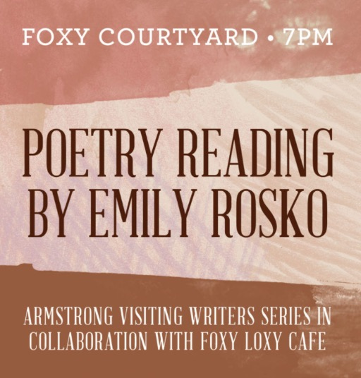Visiting Writers Series Welcomes Dr Emily Rosko Edition