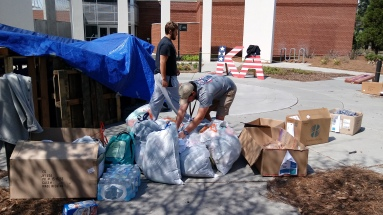 Pi Kappa Alpha fraternity at the 48-Hours Homeless event.