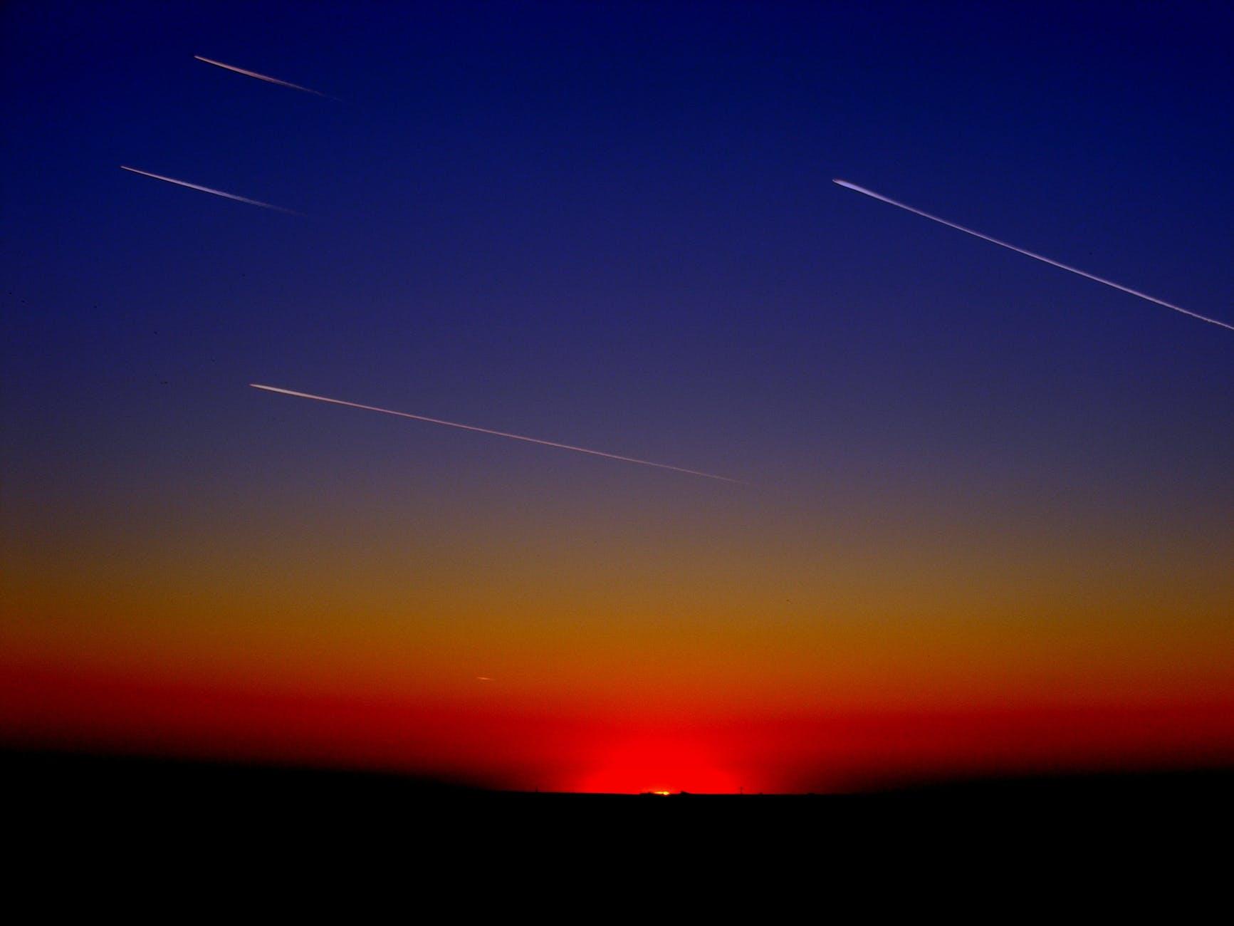 falling stars at night